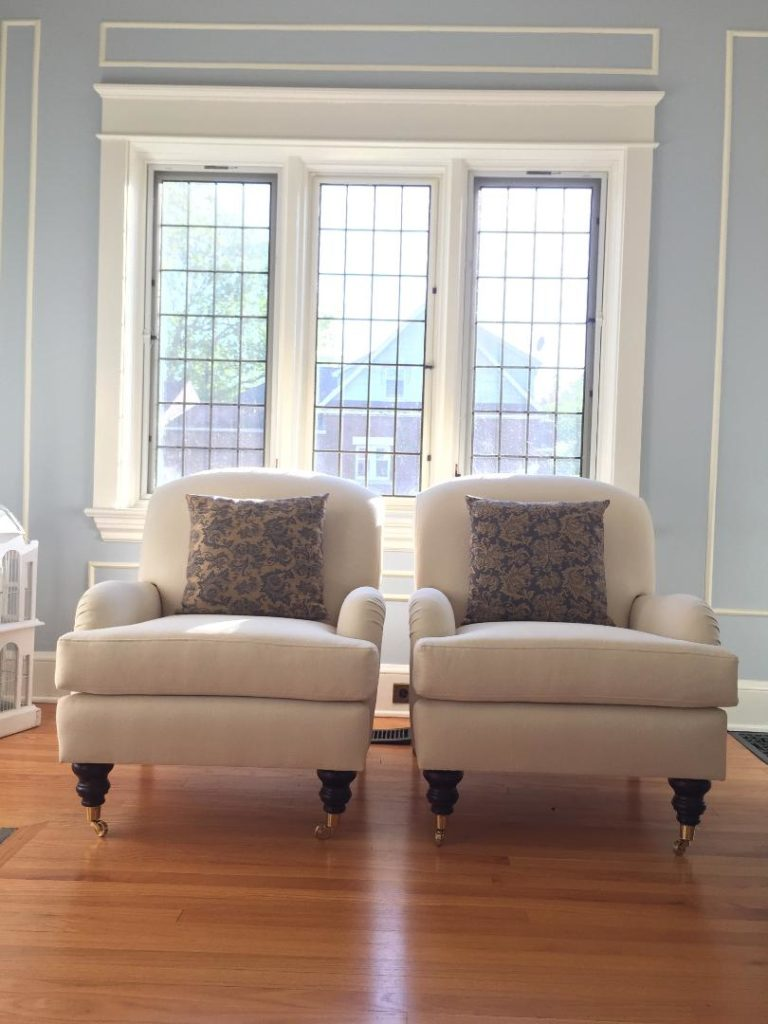 Custom chairs in situ